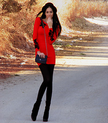 Konstantina Tzagaraki - Motel Rocks Red And Black Dress - Better Red than Dead..