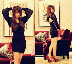 Anastasia Siantar - Self Tie Sexy Back Sinful Lbd, Pumps - I wear Sin