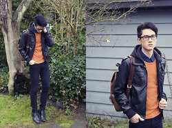 Nigel Lew - Pullover, Boy London Backpack, Proopticals Sharp Frames - This will never end