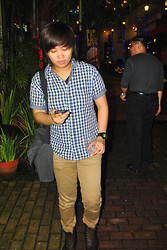 Alex Heussaff - Shirt Button Down, G Shock Watch, Zara Trousers, Dr. Martens 1460, Topman Bag - Dr Martens PH