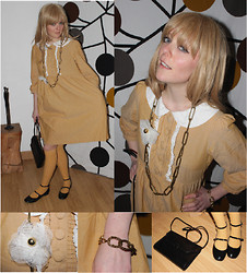Chicissime . - Piecesuniques My Creation, Soft Grey Lolita's Babies, H&M Peter Pan Collar Dress - The Mustard Dress returns!