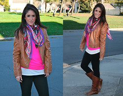 Courtney Dennis - Forever 21 Sweater, Target Jacket, H&M Scarf, Cathy Jean Boots - Optimism