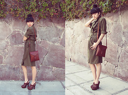Freesia B - Vintage Dress - Green is the color