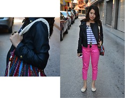 Jaque Aragon - Forever 21 Bohemian Style Bag, New Look Pink Pants - I need to collect my scarfs from Stores!
