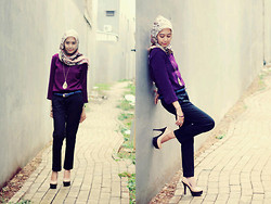 Debby Maharani - Shopatvelvet Purple Blouses, Stradivarius Pink, Zara Black - Purple lady