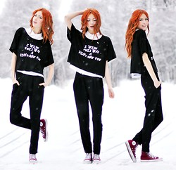 Ebba Zingmark - I Wish This Was A Vintage Collection Tee, Mango Pants - Design by Ebba Z #1 :)