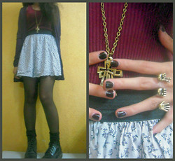 Kam[i]lia C. - Catcab Shop Cross Necklace, Catcab Shop Connector Ring, Dr. Martens Boots - Grapes and wine...