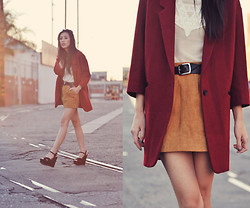 Jenny Ong - Chic Wish Boyfriend Coat, The Quiet Riot Sheer Blouse - Better than my favorite sweater