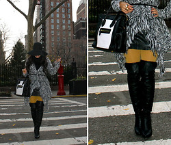 Flor de Maria Fashion - Forever 21 Sweater, American Apparel Tights, Boots Report - The Chunky Sweater
