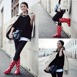 Alexandra Per - Gunnel´S Zuecos Wellies Boots, Queens Wardrobe Sweater, Marc By Jacobs Bag, Mango Necklace - Funny wellies