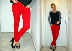 Vanda Santos - Bershka Jeans, Zara Shoes, Zara Top - Simply Red