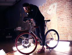 Aren Willingham - Levi's® Black 510's, Vans Red Van's, Cheap Monday Motorcycle Hoodie, Levi's® Crew Vest - I love my bike <3