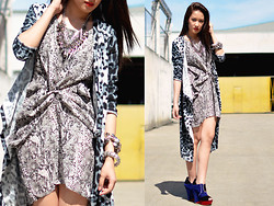 Laureen Uy - Sm Accessories Necklaces, Feet For A Queen Wedges, Wagw Dress, Wagw Cardigan - Animal Prints Are Never Out (BMS)