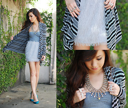 Kryz Uy - Stylista Ph Fringe Skirt, So Fab Teal Satin Flats, Butingtings Rings - Every cloud has a silver lining