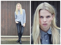 Lina S. - Primark Shirt, Zara Jeans, Cos Boots, Bjorg Earring - Only 3 days left!!!