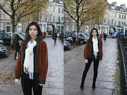 Becky May - Vintage Jacket, H&M Scarf, Asos Boots - RUSTY