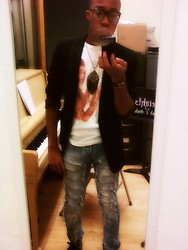 Gennairo McClain - & Ripped Jean, H&M Blazer - Off The Block +.+