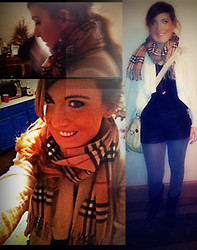 Rachel Willow - Burberry Scarf, Forever 21 Leather Shorts, Big Buddah Bag/Satchel - Burberry L.o.v.e
