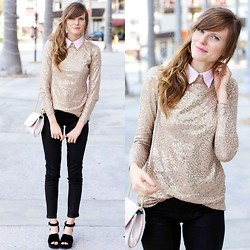 Steffy Degreff - Tea And Tulips Golden Gal Blouse - MERRY MERRY CHRISTMAS, cute lookbookers!