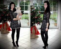 Jen Z - H&M Lace Dress, Zara Pumps, Guess? Watch - We wanna wish you a merry christmas