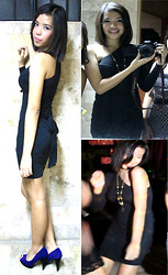 Dana Dela Torre - Freeway Dress, Prima Donna Blue And Black - Blue and Black Night Out. TMHTD!