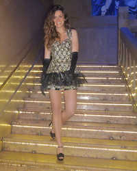 Gresy D. - Christian Dior Dress Made By Me With Cloth, Miu Shoes - Merry Smiling Christmas !