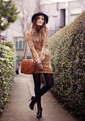 Anouska Proetta Brandon - Motel Rocks Dress, Dr. Martens Shoes, The Kooples Hat - Happy Christmas LookBookers!!! <3