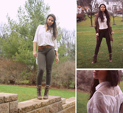 Gergana T. - H&M Button Down, Bounce Boutique Trench - Echoes from the Silence