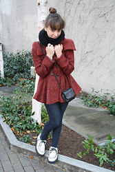 Jackie Groffman - Free People Coat, T.U.K Creepers - Creepers and a Cozy Coat