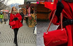 Fancy Diaana - Moschino Bag, Vintage Market, Tally Weijl Fur Scarf, Vintage Market Red Coat - Oh Christmas !