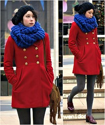 Jessica M. - House Of Fraiser Coat, Zara Snood, Accessorize Hat - Somewhere in New York City...