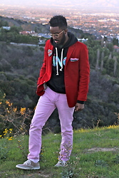 Curran J. Swint - Kings Rule Together King Hoody, Gucci Canvas Sneakers, Armstrong & Wilson Pocket Square, H&M Pink Pants - California Love