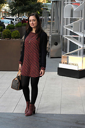 Cee F. - Club Monaco Cardigan, Everly Dress, Zara Boots, Moon Raven Designs Necklace, Louis Vuitton Purse - Ice Cream Sunday