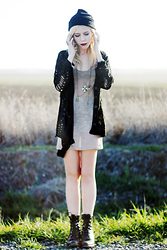 Madeline Pendleton - Chic Wish Sweater, Native Tank Dress, Vintage Boots - Hole-y Moly