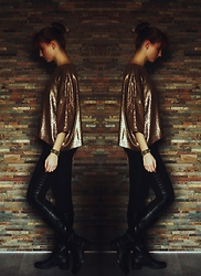Ewa B. - H&M Leggins, Zara Sweater - We are golden.