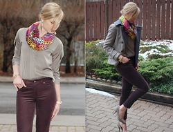 Liat Neuman - Bcbg Top, Bcbg Scarve, Club Monaco Coat, Zara Shoes - Rainbow after rain