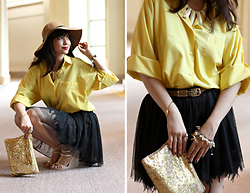 Bea Benedicto - Forever 21 Floppy Hat, Accessories & Watermelon Co. Beige Aztec Necklace, Soiree Feather Tulle Skirt, The Ramp Leopard Belt, Terra Y Agua Jelly Wedge Sandals - Suite Living