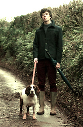 David Smale - Topman Wool Jacket, Jack Wills Knitted Jumper, Topman Corduroy Trousers - A Walk in the Countryside