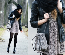Kasia Szymków - Dress, Stradivarius Long Jacket, Jeffrey Campbell Boots, Zara Bag, Diy Hat - Sweet LACE