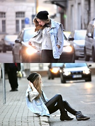 Paulina B. - Vintage Vest, H&M Blouse, H&M Trousers, Boots - Hey baby, when you walk that way, can't keep away
