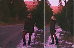 Hannah Beckwith - Free People Coat, Forever 21 Skirt, Steve Madden Boots - In the Mountains