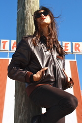Nathan S - Members Only Leather Bomber - Sweetheart, no matter what you say or do