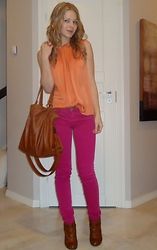 Tiina O - Zara Top, Pieces Bag, Stradivarius Pants, Zara Booties - Long time no see