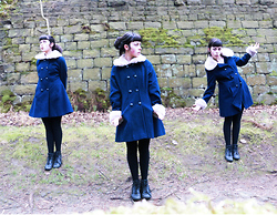 Rose W - Urban Outfitters Blue Coat, Ecco Boot - The wilderness is gathering all its children back again