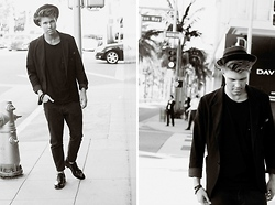 Andreas Wijk - Acne Studios Jacket, Whyred Jeans, Marc By Jacobs Shoes, Jimmy Choo Bracelet, Vintage Hat - Stand On Grace.
