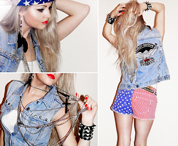 Missi Rose - Diy Vest, New Yorker American Shorts - Born to Be Wild!!!