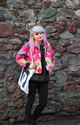 Tori West - Gap Vintage Jacket, Start The Bus, Bristol Tote, Vintage Glitter Jumper - I love you like Chicken soups, biscuits and lemonade.