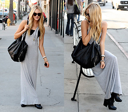 Shea Marie - Helmut Lang Bag, Alexander Wang Maxi Dress, Dolce Vita Boots, Karen Walker Glasses - A taste of summer