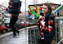 Natascha C - H&M Navy Gilet, Warehouse Checkered Shirt, Converse High Tops - United State of Pop 2011 Mashup (World Go Boom)