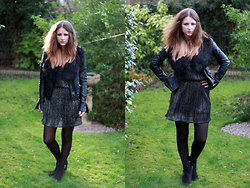 Heather Louise - New Look Jacket, H&M Fur, Topshop Dress, Topshop Boots - Party dress